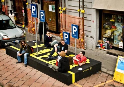 Parking pour piétons