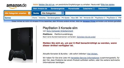 PS3 slim Amazon