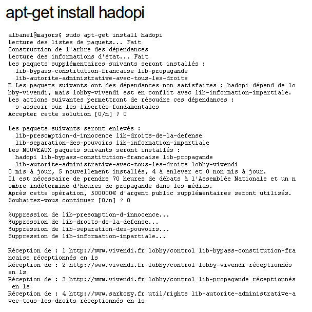Apt-get install hadopi