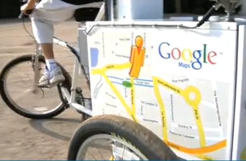 Le vélo Google Street View