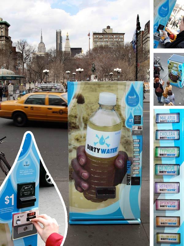 Unicef-distributeur d'eau contaminée