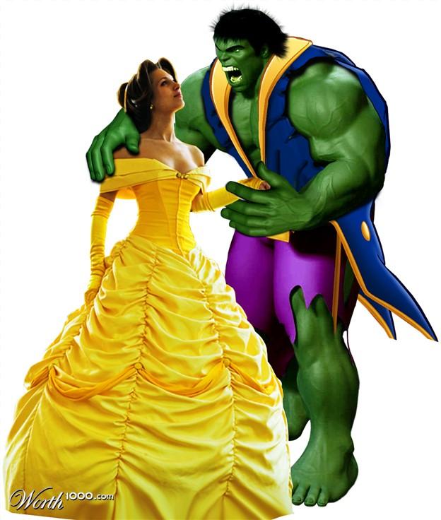 la belle et hulk