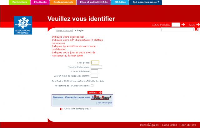 CAF phishing copie