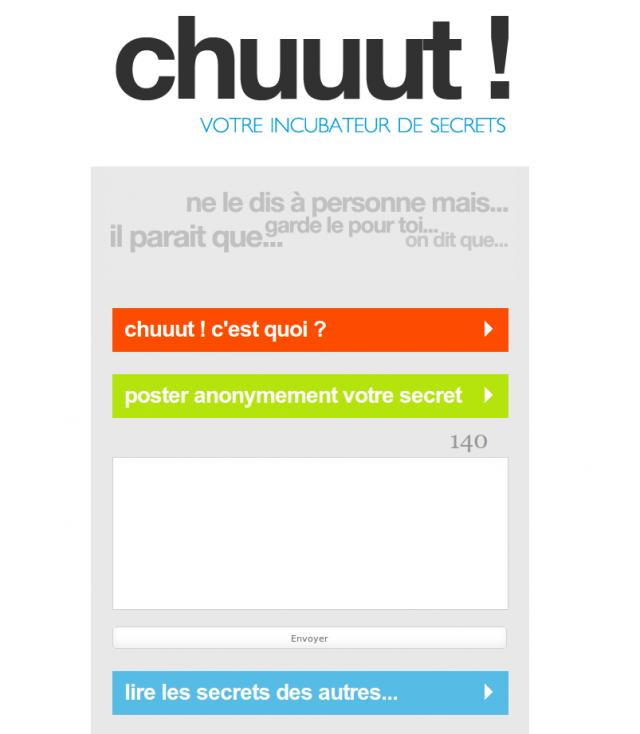 chuuut: le site!