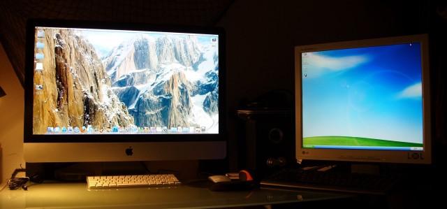iMac 27 vs LG Flatron 19