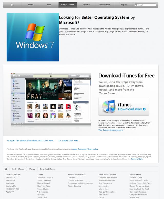 Hack windows 7 sur l'Apple Store