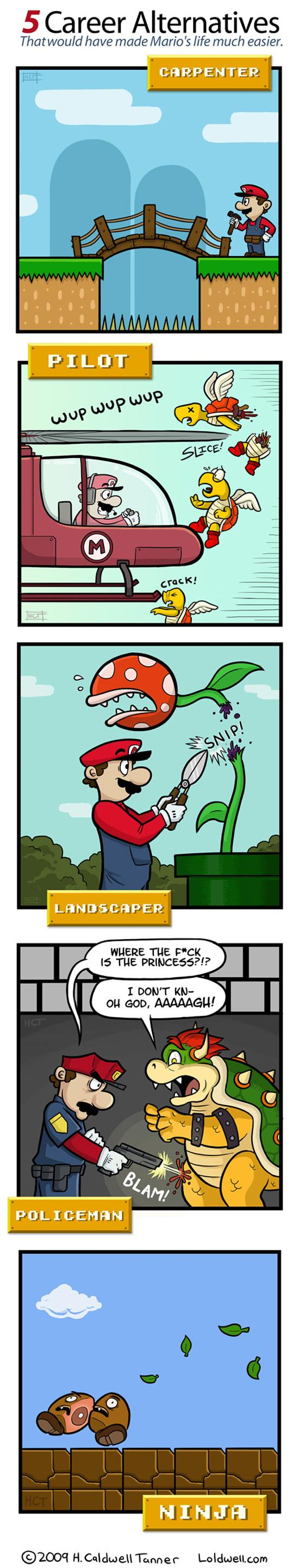 Mario change de carrière