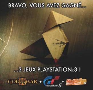 Gagner 3 jeux PS3 en achetant Heavy Rain