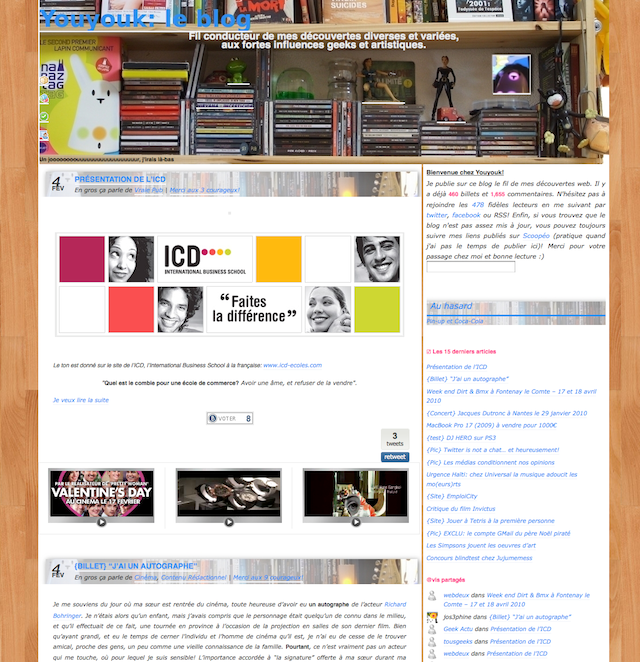 Theme du blog youyouk version 1
