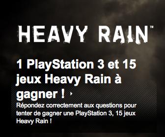 {Concours}PS3 et jeux Heavy Rain à gagner!
