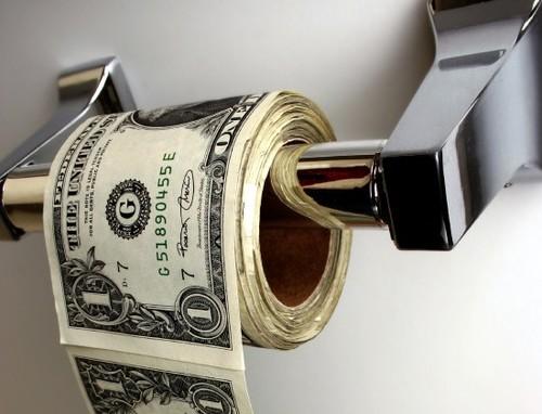 Papier toilette en billets
