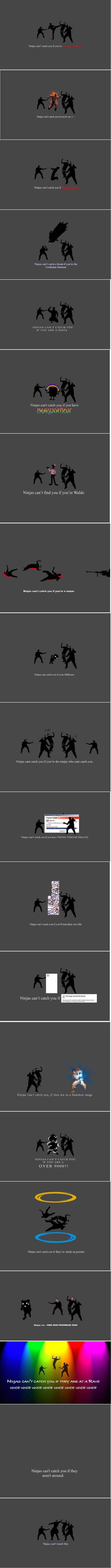 Les ninjas ne peuvent PAS tout faire!