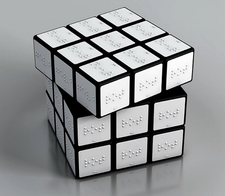 Rubik's cube en braille