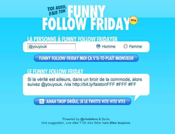 {Site} Funny Follow Friday