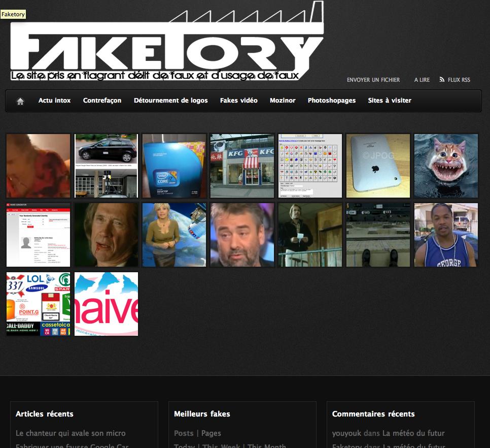 Ouverture de Faketory 2010™ - Le site pris en flagrant délit de faux et d'usage de faux