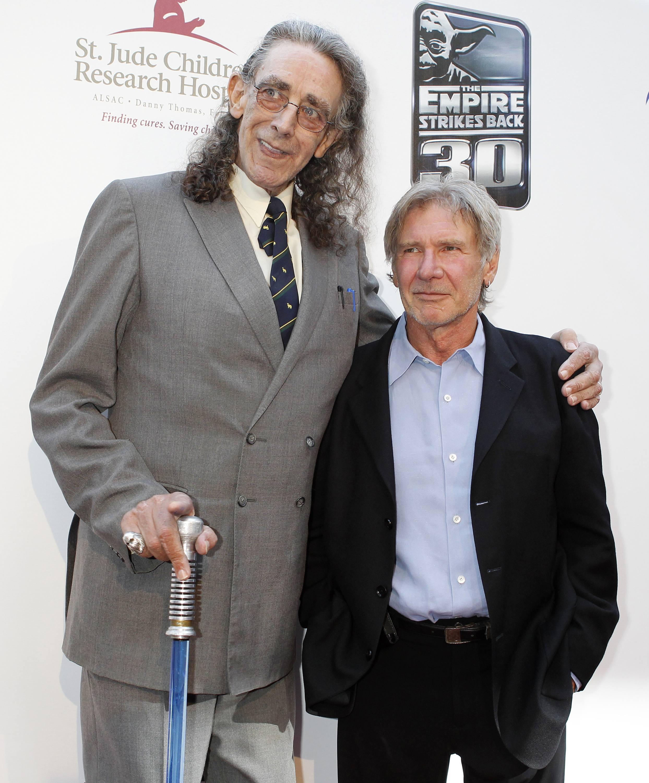 Chewbacca et Han Solo 30 ans plus tard sans maquillage