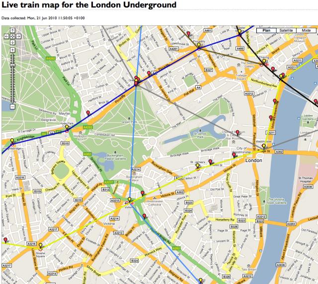 Suivre le traffic du Tube en temps réel