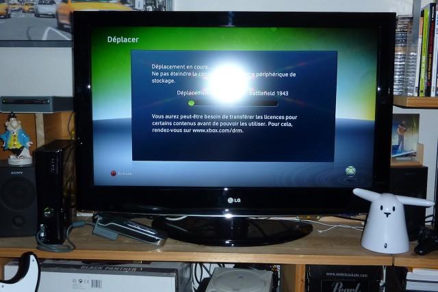 3 - Transfert ancien disque dur vers Xbox 360 Slim