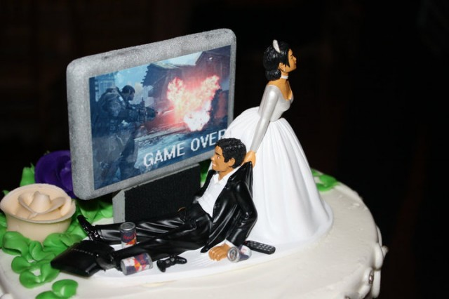 gateau gamer - game over