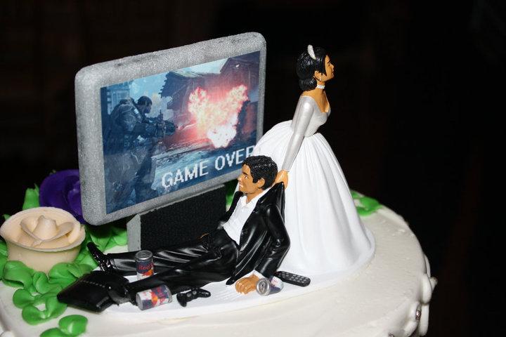 Le gâteau de mariage de (l'ex)gamer