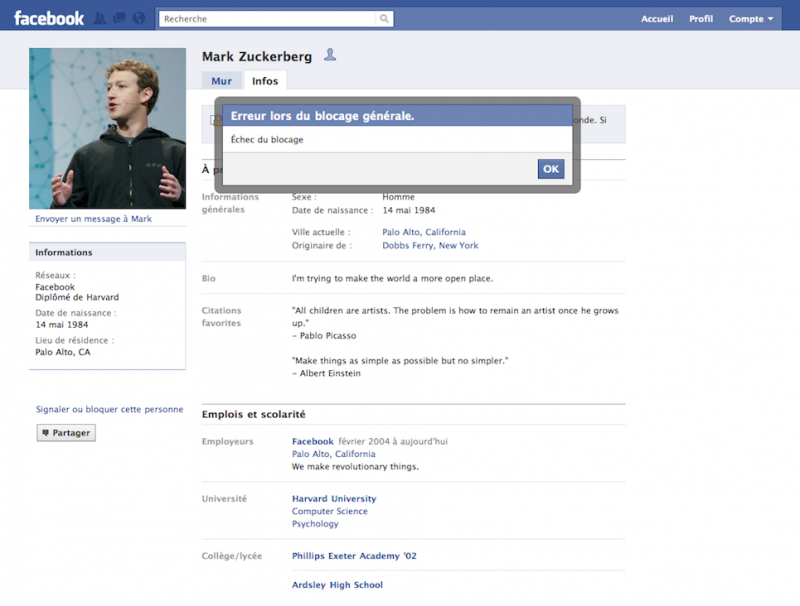 Sur Facebook bloquez qui vous voulez… sauf Mark Zuckerberg!