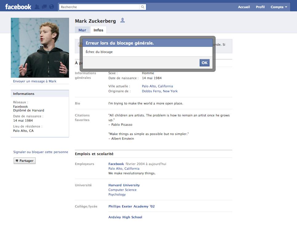 loquez qui vous voulez sur Facebook sauf le boss