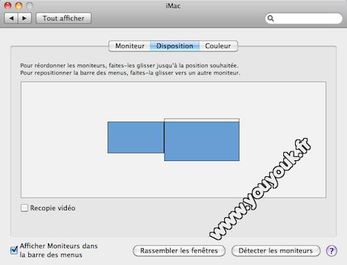 Configuration double affichage iMac