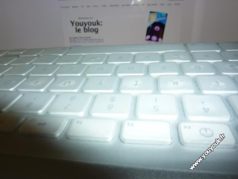 Protection clavier iMac en silicone en gros plan