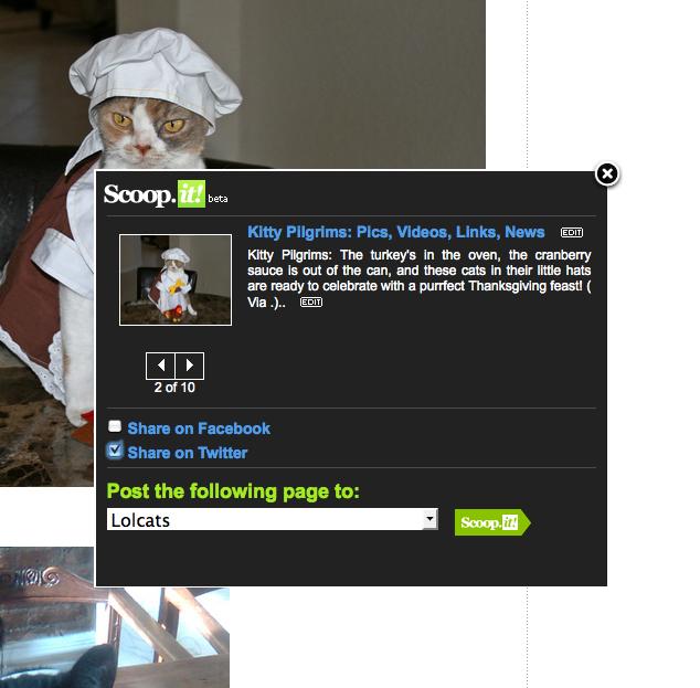 Scoop it Bookmarklet pour ajouter la page visitée
