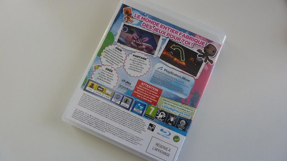 Little big Planet 2 PS3 jaquette arrière